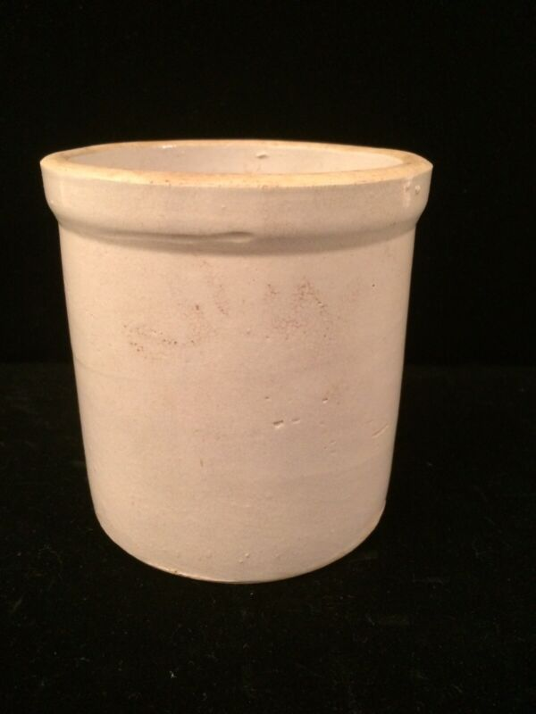 "Small Vintage 5.25"" Stoneware Crock"