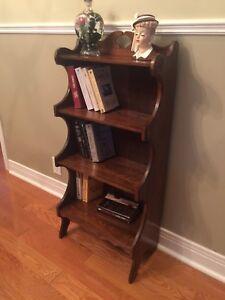 Antique Bookshelf / Bookcase/ Display Shelf -Walnut