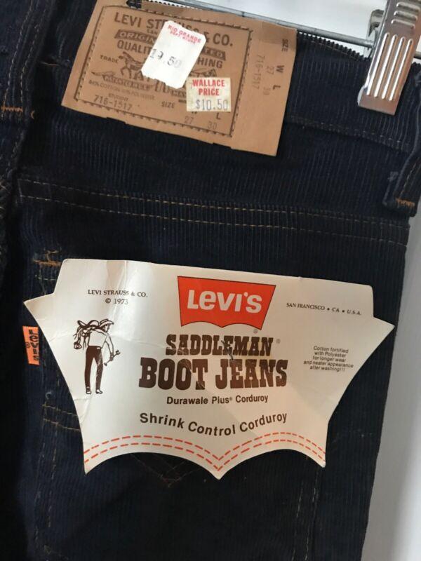 NEW Levis Boys Saddleman Boot Cut Jeans Orange Tab Student 27 x 30 VTG 1973