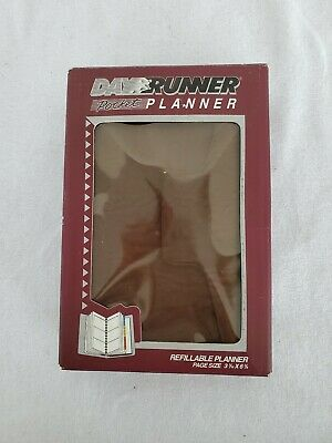Vintage Day Runner Pocket Planner Refillable New Old Stock 1992 Assorted Inserts