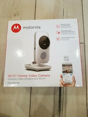 NEW OEM IN RETAIL PACKAGE Motorola Focus 67 WiFi Home Video Camera White