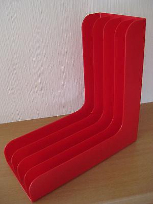 LP-Ständer-Plattenständer - stylisch 70er Jahre - Farbe: rot/orange+++