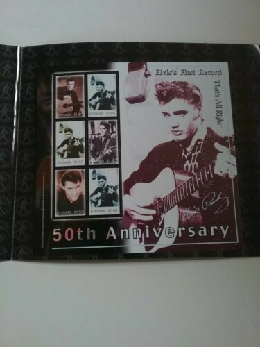 GRENADA 2004 50th ANNIVERSARY OF ELVIS FIRST RECORDING THAT S ALL RIGHT  - $3.00