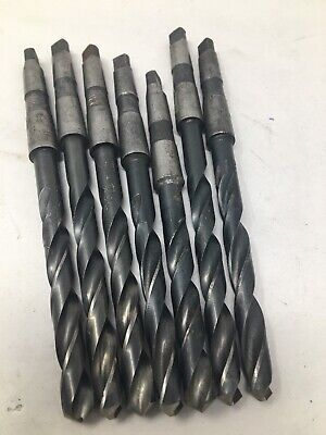 Lot Of 7 Morse Taper 1 Shank Mt1 1mt Drills All 2364 Ptd Cle Forge