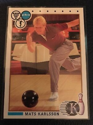 RARE 1990 Kingpins PBA Bowling #11  MATS KARLSSON  MINT  Pack Fresh