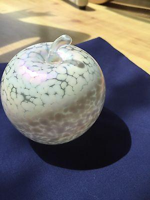 Glasform Medium White Glass Apple John Ditchfield Excellent Condition