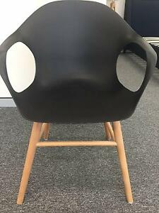 Black White Replica Eames Study Office Dining DAW Armchair SC01-2 Campbellfield Hume Area Preview