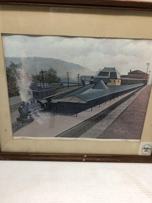 Buck Tyree print vtg Union Station signed numbered 197/500 framed