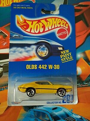 HOT WHEELS CARS. .. RULES FOR 442 W 30 .. COLLECTOR NUMBER 267 .. MATTEL 1991