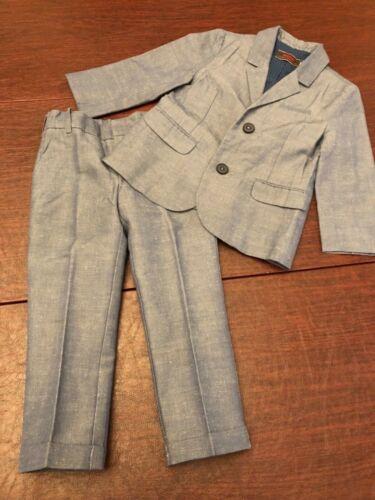Catimini Boys Blue Suit Jacket & Pants Size 6 (Jacket) & Size 5 (Pants)