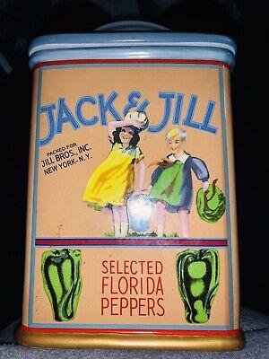 Vintage Jack & Jill Cookie Jar - Vintage Labels Sakura NY Division of Oneida