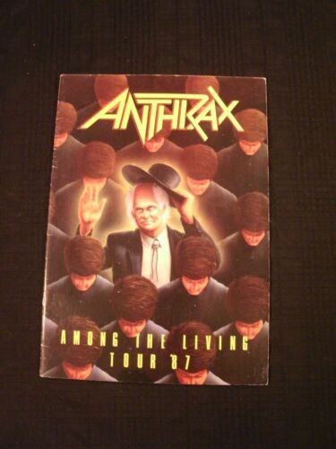 ANTHRAX - Among The Living - 1987 Concert Tour Book / VG+/ Hard Rock Metal