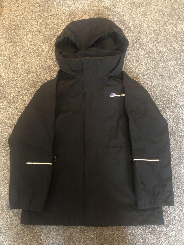Childrens Black Berghaus Mac/coat/jacket Waterproof Age 5-6 Years