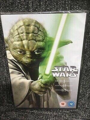 STAR WARS  The Prequel Trilogy (Episodes I II and III) (DVD) NEW & SEALED.