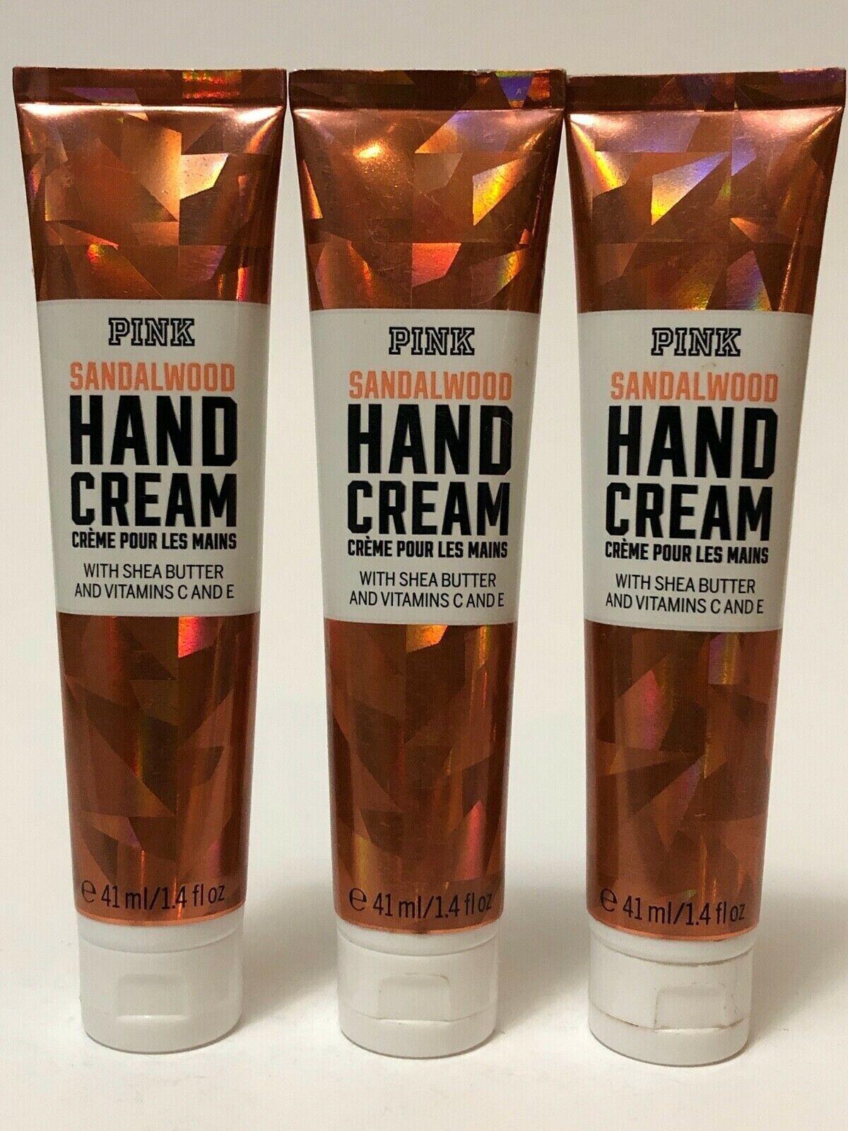 2 Victoria's Secret Pink Sandalwood Hand Cream Shea Butter V