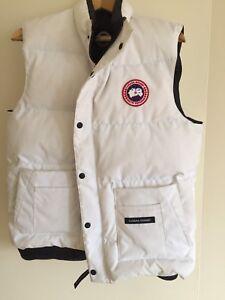White Canada goose vest