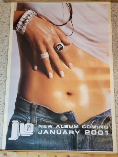 Vtg 2001 JLO Jennifer Lopez Belly Button Poster - New Album Coming - Sony Epic