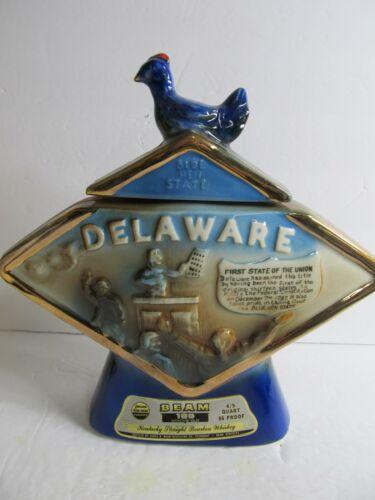 Jim Beam - Delaware - Blue Hen State Decanter 0724c