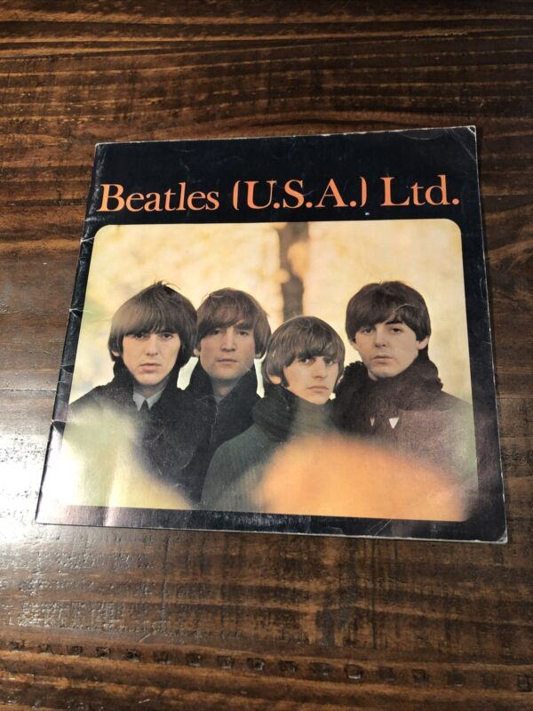 1965 Original BEATLES USA Ltd - WORLD TOUR PROGRAM - PHOTOS and MORE Book