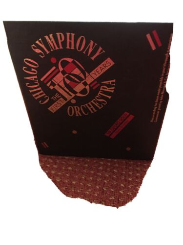 CHICAGO SYMPHONY THE FIRST YEARS ORCHESTRA SIR GEORG SOLTI - $50.00