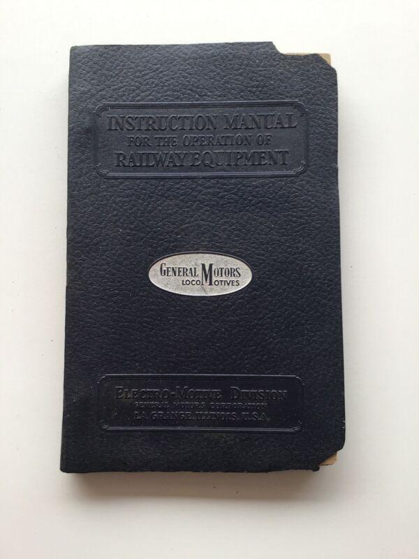 Vintage 1944 General Motors Electro-Motive Division Instruction Manual 12-1