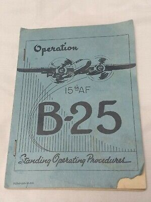 B-25 Standing Operating Procedures Manual Vintage Mitchell HQ15AF-Mar-52-300