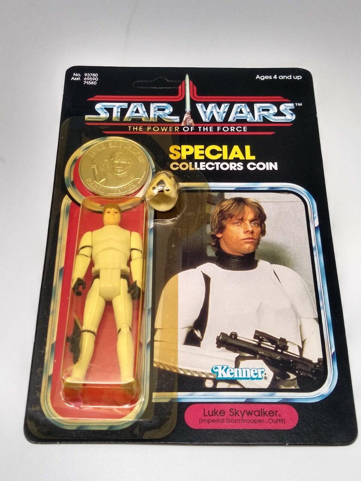 Vintage Star Wars Last 17 Luke Skywalker Stromtrooper 92 Back Unpunched MOC