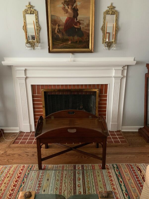 Kittinger Chippendale Style Mahogany Butlers Tray Coffee Table