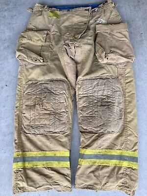 Firefighter Honeywell Morning Pride Turnout Bunker Pants 38x32 Costume Used