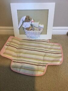 Portable change mat and nursery picture