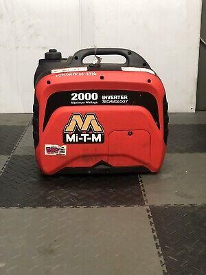 Used Mi-t-m Gen-2000-imm0 Portable Generator Inverter 2000w 12v Camper Power