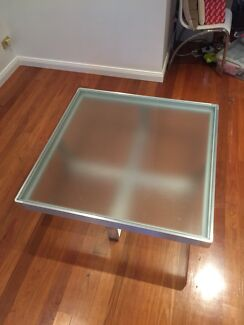 Coffee table stainless steel glass beautiful