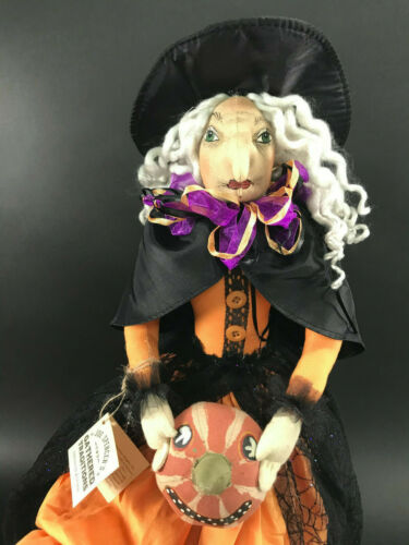 Gilda the Witch with Pumpkin Halloween Doll by Joe Spencer Gallerie II NEW NWT