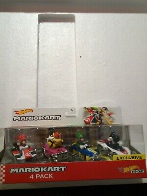 Hot Wheels Mario Kart 4 Pack Walmart Exclusive Black Yoshi P-Wing DIECAST 1/64