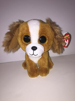 """TY TALA THE ADORABLE DOG 6"""" BEANIE BOOS-NEW, MINT TAG*IN HAND*SHIPS NOW*SO CUTE*"""