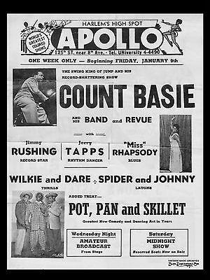"Count Basie The Apollo 16"" x 12"" Photo Repro Concert Poster"