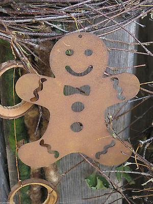 Edelrost Lebkuchen kl Dekoration Garten Weihnachten Türkranz Rost Advent Hänger (Weihnachten Lebkuchen Dekoration)