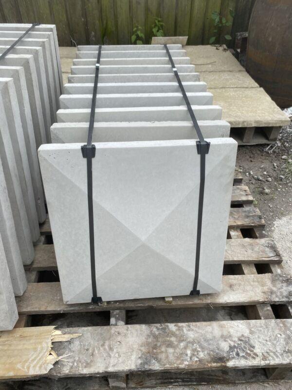 18%E2%80%9D+X+18%E2%80%9D+Smooth+Concrete+Pier+%2F+Pillar+Cap+Stone+-+New