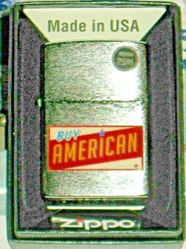A New Genuine ZIPPO USA Windproof LIGHTER 12661 Buy American Brushed Chrome Case