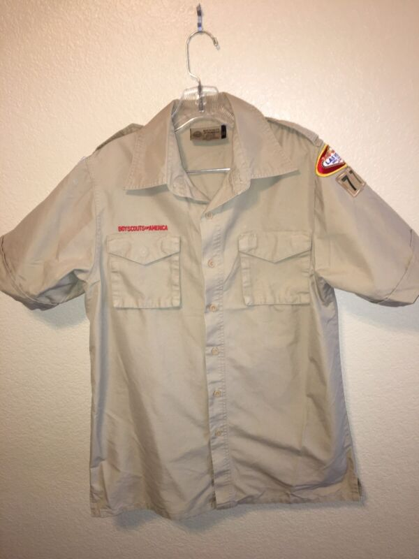 boy scouts of america shirt short sleeve adult small