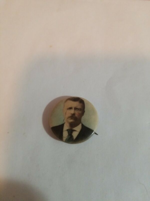VINTAGE PRESIDENT THEODORE TEDDY ROOSEVELT BUTTON PINBACK CAMPAIGN PIN 1904? B2