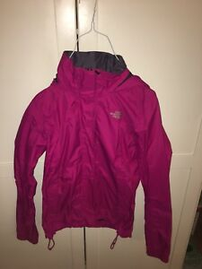 Women's  pink North Face rain coat