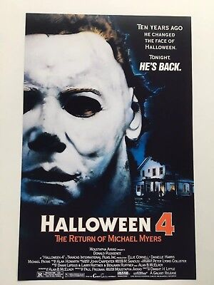 Halloween 4: The Return of Michael Myers Theatrical 11x17 Movie Poster (1988) (The Movie Halloween Returns)