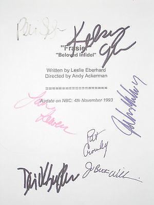 Frasier TV Cast Signed Script X7 Kelsey Grammer David Hyde Pierce Leeves reprint