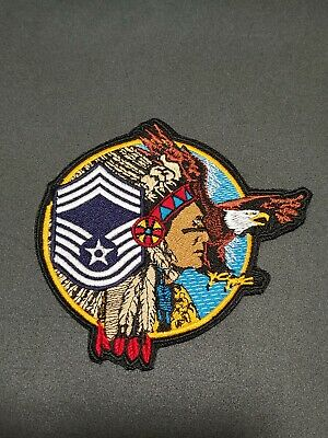1970/'s usaf patch master  sergeant new old stock sold as pair