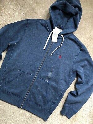 RALPH LAUREN POLO BLUE CLASSIC LOGO SWEATSHIRT HOODY TOP - MEDIUM - NEW & TAGS  Blue Classic Logo Hoody Sweatshirt