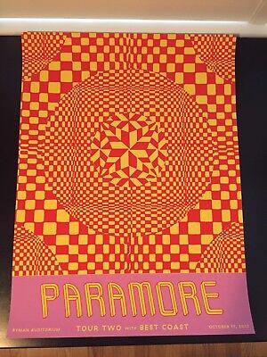 Paramore Ryman Auditorium Poster 28/100 Not Hatch - Nashville, TN - 10/17/2017