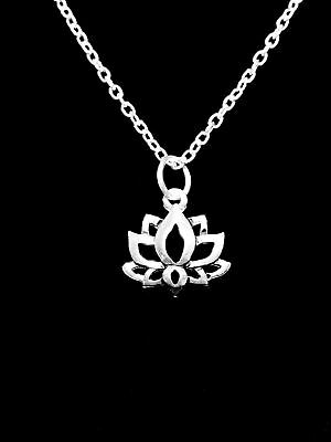 Lotus Necklace Flower Tranquility Peace Ohm Knowledge Life Charm Jewelry Tranquil Lotus Blossom