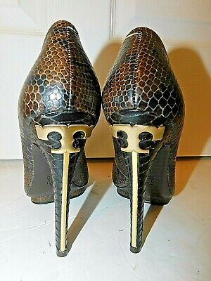 Tory Burch Jude Amazon Snake Pumps Heels Shoes size 8