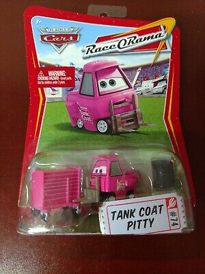 NEW Disney Pixar Cars Race O Rama Tank Coat Pitty Pink Die Cast Toy Car #74